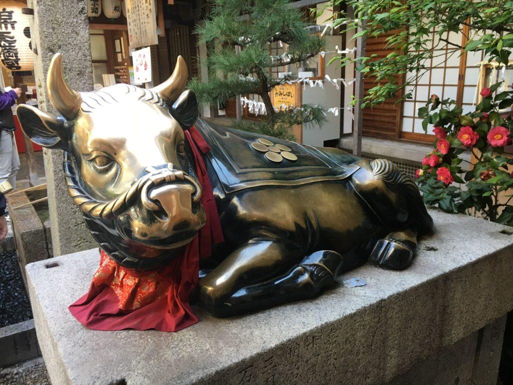 錦天満宮 撫で牛